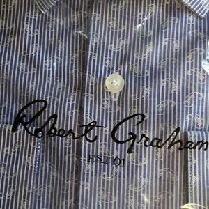 Robert graham micro paisley shirt